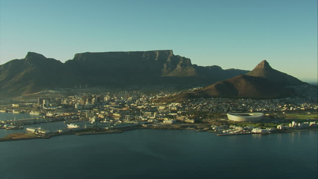 Aerial shot over Cape Town