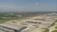 Aerial shot over London Heathrow Airport