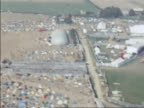 Aerial shot over the Isle of Wight music festival