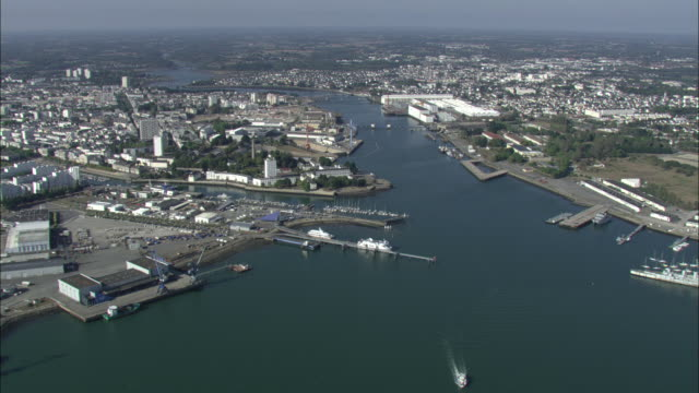 Aerial shot over the port of lorient in brittany film for Chambre de commerce lorient