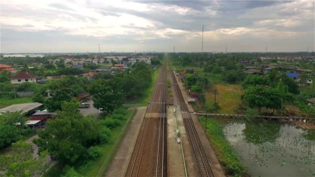 Aerial Shot Railroad