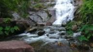 Aerial shot tone prew waterfall in satun south Thailand