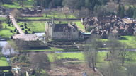 Aerial shots of country side in Kent pan Hever Castle on March 03 2016 in Kent England