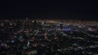 Aerial Shots of Downtown Los Angeles at Night on June 29 2012 in Los Angeles California