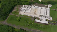 Aerial shots of Ethicon Johnson Johnson Medical Limited manufacturing site on June 11 2014 in Livingston Scotland