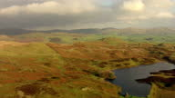 Aerial shots of hills valleys in the Lake District on December 07 2015 in Cumbria England