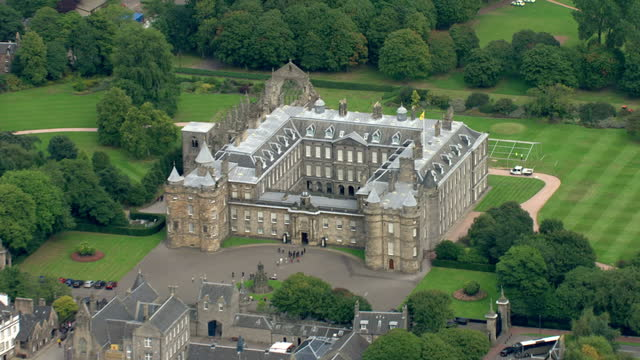 Aerial shots of Holyrood Palace and the surrounding area Aerials of Holyrood Palace on September 03 2010 in Edinburgh Scotland
