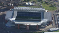 Aerial shots of Ibrox stadium home of Rangers Football Club on September 16 2010 in Glasgow Scotland