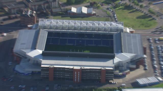 Aerial shots of Ibrox stadium home of Rangers Football Club on September 16 2010 in Glasgow Scotland
