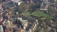 Aerial shots of Nottingham Castle and surrounding grounds ** NOTE THIS CLIP HAS NO AUDIO ** on July 21 2005 in Nottingham England