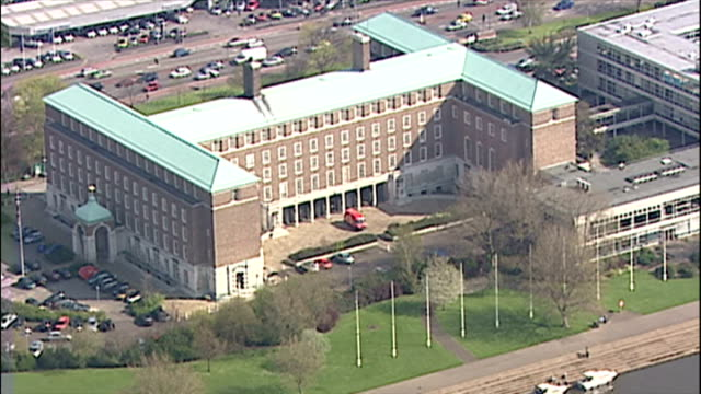 Aerial shots of Nottinghamshire County Council Offices County Hall ** NOTE THIS CLIP HAS NO AUDIO '' on July 21 2005 in Nottingham England