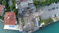Aerial shots of Reina nightclub after it was demolished on May 22 2017 in Istanbul Turkey Istanbul municipality Monday demolished the building of the...