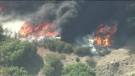 KTLA Aerial Shots Of RVs Burning In Wildfire on May 03 2013 in Camarillo California