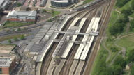 Aerial shots of Sheffield station>> on June 25 2015 in Sheffield United Kingdom