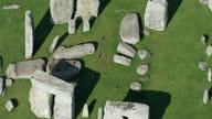 Aerial shots of Stonehenge prehistoric monument on September 2 2014 near Salisbury United Kingdom