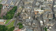 Aerial shots of the High Street known famously as the Royal Mile in Edinburgh Holyrood Parliament building Edinburgh Royal Mile Holyrood Aerials on...