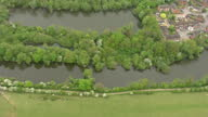Aerial shots showing the dried up watercourse along the River Colne on the outskirts of St Albans on May 08 2017 in St Albans England