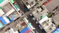 Aerial shot:Village