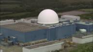 Aerial Sizewell B nuclear power station / Suffolk, England