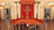 Aerial St. George Hall Throne Dais