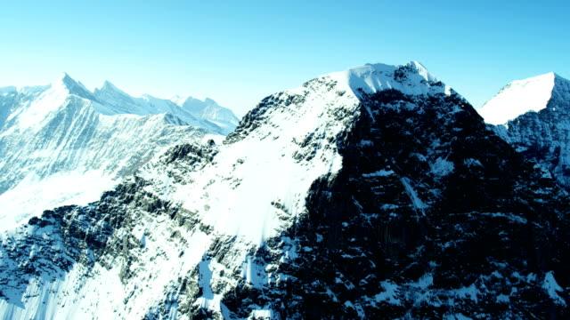 Aerial Swiss Jungfraujoch Sphinx Observatory mountain Alps