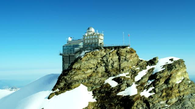 Aerial Switzerland Jungfrau summit mountaineering Alps snow