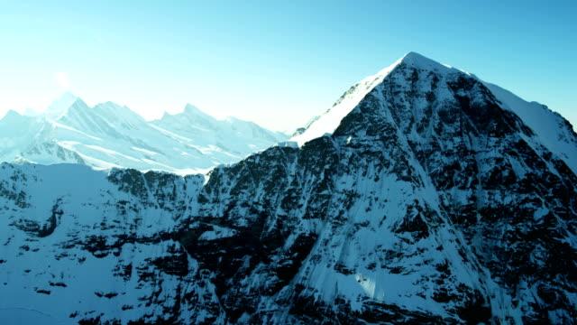 Aerial Switzerland Jungfraujoch Sphinx Observatory Grindelwald snow