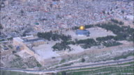 Aerial The Temple Mount in Jerusalem, Israel
