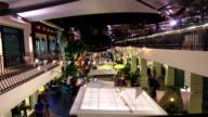 Luftaufnahmen, Zeitraffer Fußgänger Shopping Night Market
