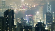 TL WS HA Aerial Timelapse of Hong Kong at night