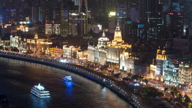 Aerial Timelapse of Shanghai Bund