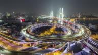 Aerial Timelapse of Shanghai Nanpu Bridge