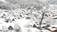 HD time-lapse: antenna  Shirakawago Gassho-Dukuri Gifu patrimonio mondiale di Chubu, in Giappone.
