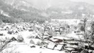 HD Aerial time-lapse: Shirakawago Gassho-Dukuri Gifu, Chubu World Heritage Japan