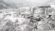4 K Veduta aerea Time-lapse : Shirakawago Gassho-Dukuri Gifu, Chubu Mondo Patrimonio Giappone