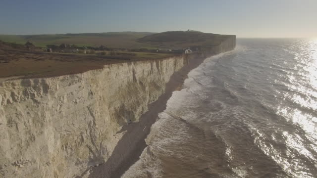 Aerial track towards Birling Gap in Sussex