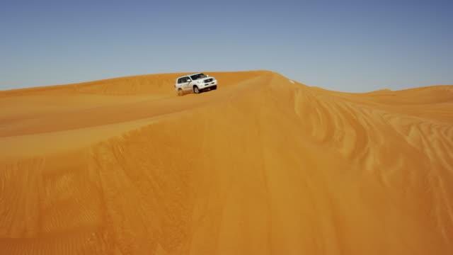 Aerial UAE Drone Off Road Vehicles Desert Safari