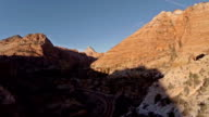 Aerial Utah Zion National Park