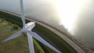 Aerial video from wind generator / wind turbine
