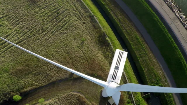 Aerial video from wind generator / wind turbine