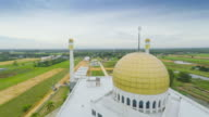 aerial video mosque in Thailand