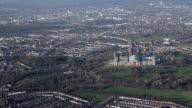 Aerial video of Alexandra Palace. London, UK.