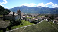 Aerial Video of Chateau d'Aigle in Switzerland