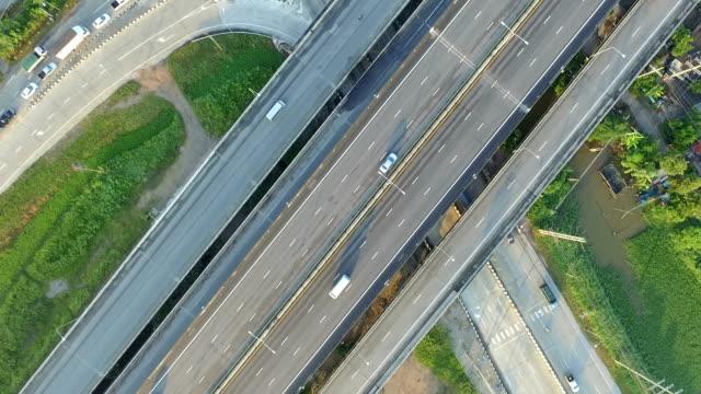Aerial video of Interstate highways