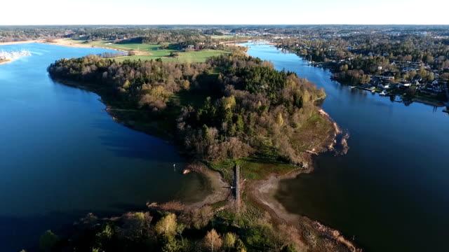 Aerial Video over Stockholm Archipelago