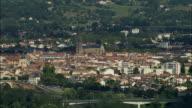 WS SIDE POV Aerial view, Bergerac, Aquitaine, France