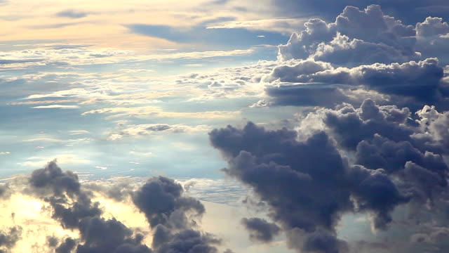 HD: Aerial View Cloudscape from Airplane