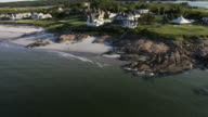 Aerial View, coastal mansions