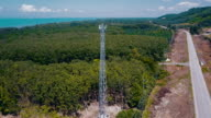 4K Aerial View : Communication Tower