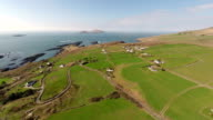Aerial view from a drone: Ring of Kerry Ireland